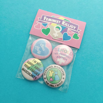 Feminist Killjoy Badge Pack - Button Badges