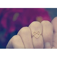 Forget Me Knot Heart Ring