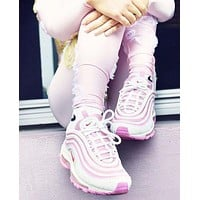 Nike Air Max 97 Retro Running Shoes ¡°White&Pink¡±313054-161