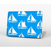 """The Blue Vector Sailboats Skin Set for the Apple MacBook Pro 13""""   (A1278)"""
