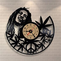 12Inch Quartz Wall Clock Antique Style Large Decorative Wall Clocks Vinyl Record Clock Living Room Art Watch