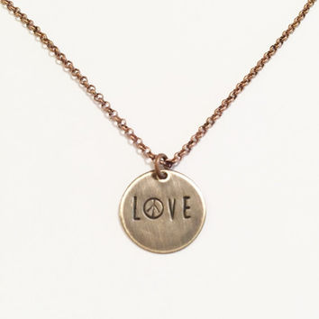 Love Necklace, Peace Sign