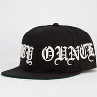 40Oz Nyc 4 Panel Forty Ounce Mens Snapback Hat Black One Size For Men 23551610001