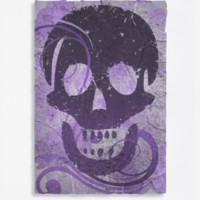 Halloween skull purple