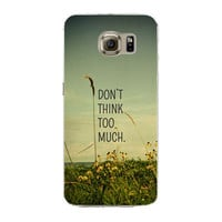 Samsung Galaxy S7 Edge Soft Silicon TPU Flowers Poetic Words Printed Case Back Cover