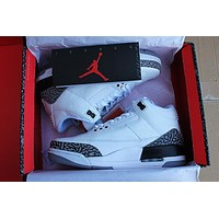 aj3 air jordan 3 white cement men women sneaker
