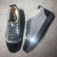 DCCK Cl Christian Louboutin Low Style #2006 Sneakers Fashion Shoes