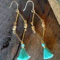 Fish Net Tassel Earring