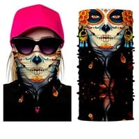 Bjmoto Festival Biker Skull Masks Skeleton sports Motorcycle Bicycle Multi function Neck Warmer Ghost Face Mask Scarves Bandanas
