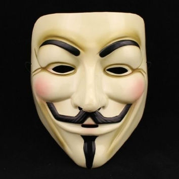 Hot-Sellig Fashion Halloween Cosplay MASK V for VENDETTA Costume Fawkes Anonymous mask #lcmq = 5617155201