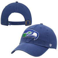 47 Brand Seattle Seahawks Clean Up Adjustable Hat - Royal Blue