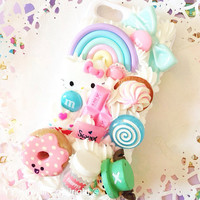 One Piece Chopper Kitty, Sweets and Food Theme kawaii Decoden whipped cream style phone case for iPhone 4/4s, 5, Samsung Galaxy S2, S3, S4