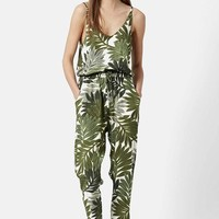 Women's Topshop Palm Leaf Print Jumpsuit