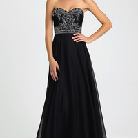 Strapless Sweetheart Long Madison James Prom Dress