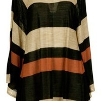 JAG Stripe Cape Knit Top