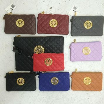quilted small clutch wristlet bag