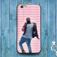 iPhone 4 4s 5 5s 5c 6 6s plus + iPod Touch 4th 5th 6th Generation Cute Music Dance Fun Girl 1 800 Hot Line Bling Phone Cover Funny Pink Case