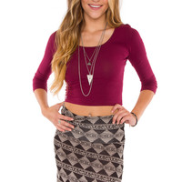 Lani Crop Top - Burgundy