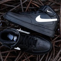 Nike Air Force 1 '07 LV8 SUEDE 35Anni Black/White 3M Mid AA4083-001