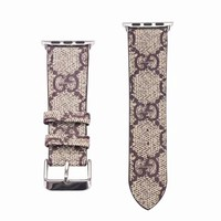 GG MONOGRAM APPLE WATCH BAND - BROWN