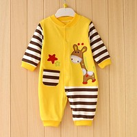 100% Cotton Newborn Baby Boy Clothes Baby Romper Next Roupa Bebes Newborn Babies Costume Autumn Winter Clothes Baby Clothing