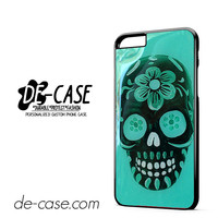 Floral Sugar Skull Turqoise DEAL-4288 Apple Phonecase Cover For Iphone 6/ 6S Plus