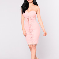 Looking For Someone New Dress - Mauve