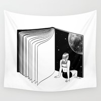 Reading is Dreaming with Your Eyes Open Wall Tapestry by Henn Kim | Society6