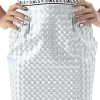 SWITCH SKIRT SILVER HOLO | THIS IS A LOVE SONG
