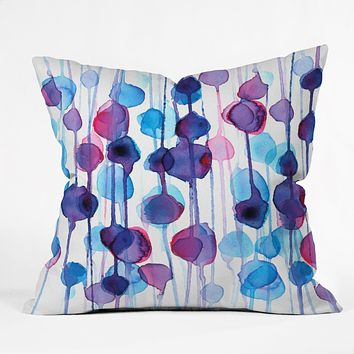 CMYKaren Abstract Watercolor Throw Pillow