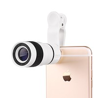 Smartphone telescope camera lens for iPhone and Samsung phones with zoom lens