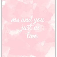 SS PRINT SHOP — JUST US TWO