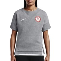 Nike Women's Team USA Tech Fleece Crew T-Shirt