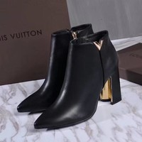 Louis Vuitton LV Matchmake zipper Ankle  short Boot shoes flats best quality