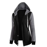2018 New Fashion Women Sweatshirts  Zipper Hooded  Long Sleeve Ladies Hoodie Fall Winter Ladies Coats