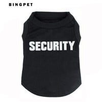 BINGPET SECURITY Dog Vest Dogs funny Clothes T-shirt for cat puppy-XXXL