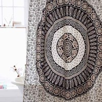 Magical Thinking Paisley Medallion Shower Curtain
