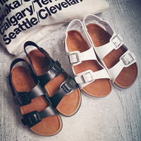 Retro Womens Rome Cork Sandals Summer Shoes Gift 04