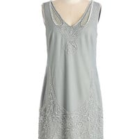 ModCloth Vintage Inspired Mid-length Sleeveless Shift All I Bead is You Dress