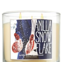 Vanilla Snowflake 14.5 oz. 3-Wick Candle   - Slatkin & Co. - Bath & Body Works