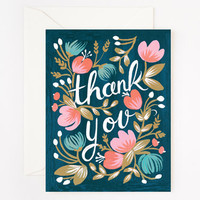 Rifle Paper Co. - Midnight Garden Thank You Card