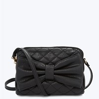 Quilted Bow Crossbody Bag
