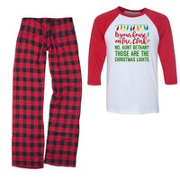 Is Your House On Fire Clark Christmas Vacation Youth/Kids Pajama Set