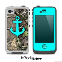 The Real Camouflage and Blue Anchor V2 Skin for the iPhone 4-4s or 5 LifeProof Case