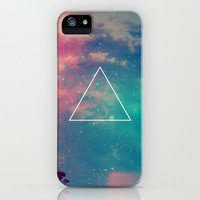 Space Triangle iPhone & iPod Case by hyakume