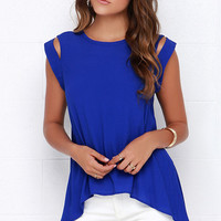 Tail the World Royal Blue Top