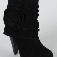 Dollhouse Rosalee Cuff Rosette Ankle Bootie