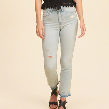 Girls Hollister High Rise Crop Skinny Jeans | Girls Clearance | HollisterCo.com