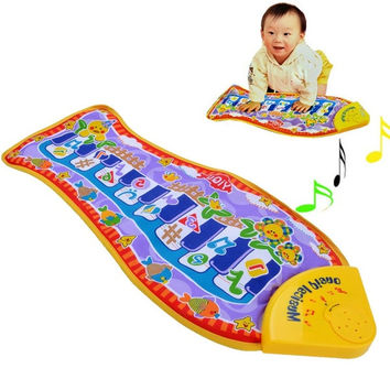 Baby Kid Child Piano Music Fish Animal Mat Touch Kick Play Fun Toy Gift  D_L = 1713096260