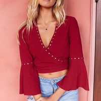 Fire Me Up Wrap Top